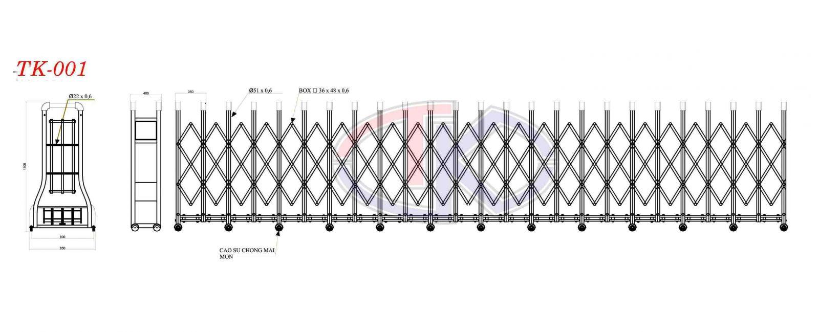 Mô tả cổng xếp điện inox
